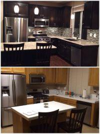 Upgraded kitchen. Espresso dark stained cabinets. Added ...
