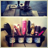 DIY hair dryer | curling iron | straightener holder ...