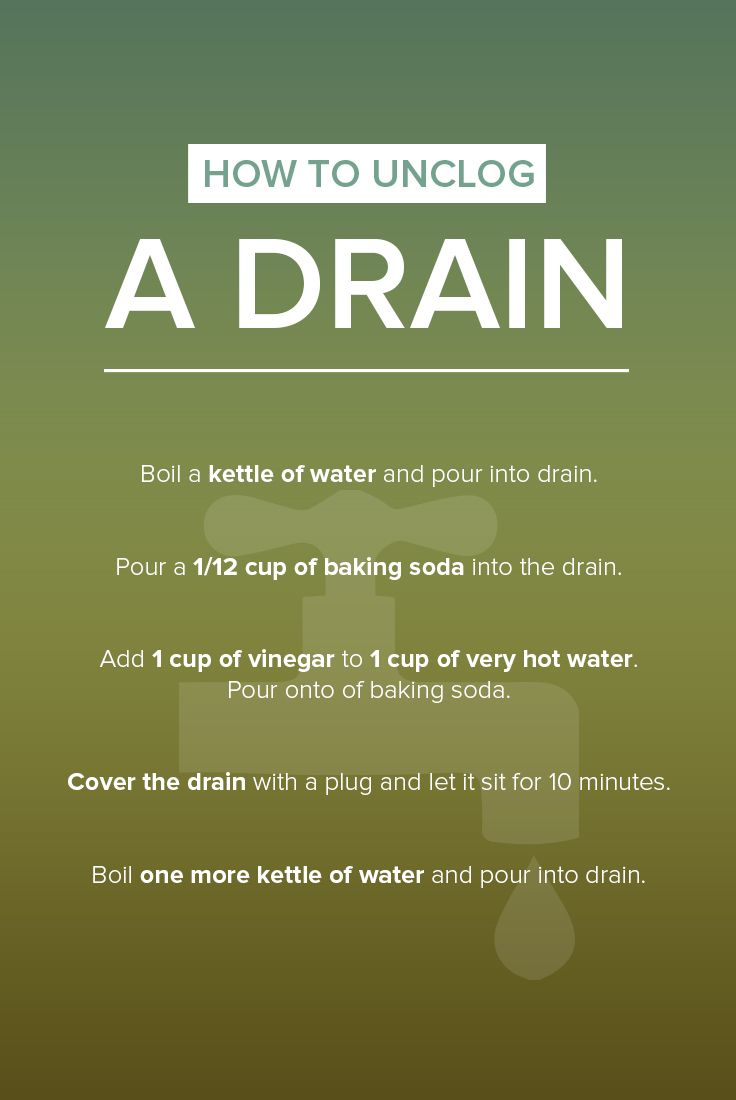 clean sink drains kitchen sink draining slowly Here s a natural way to unclog a drain in your bathroom or kitchen sink