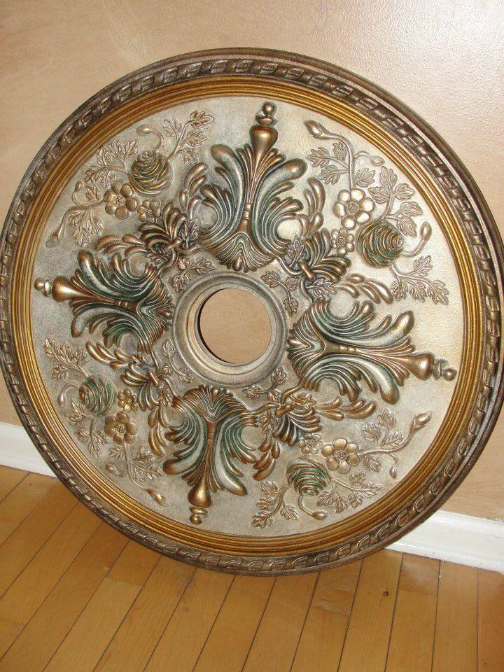 Custom painted ceiling medallion kelliescreations.com like