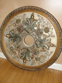Custom painted ceiling medallion kelliescreations.com like