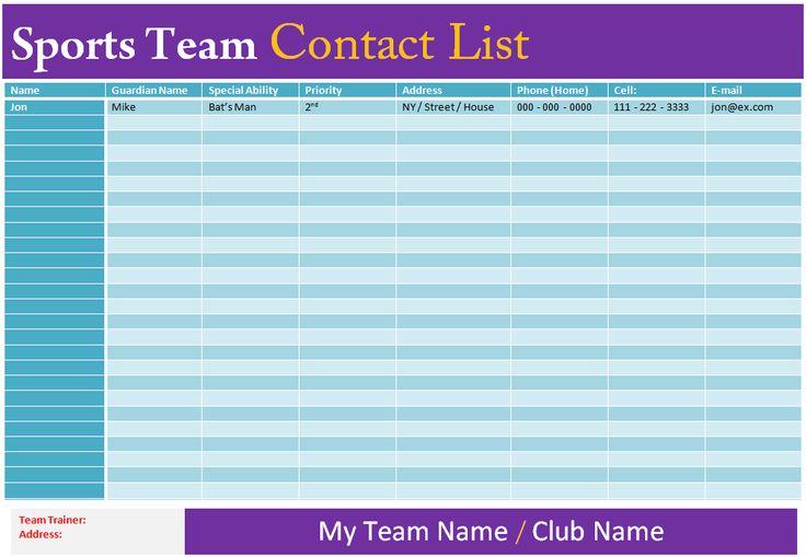 Media Contact List Template media calendar template mdxar - free contact list template