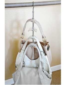 Zia Swivel Handbag Holder Purse Hanger Closet Hanger For