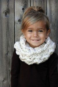 Chunky Crochet Cowl for Kids, girls scarf, girls infinity ...