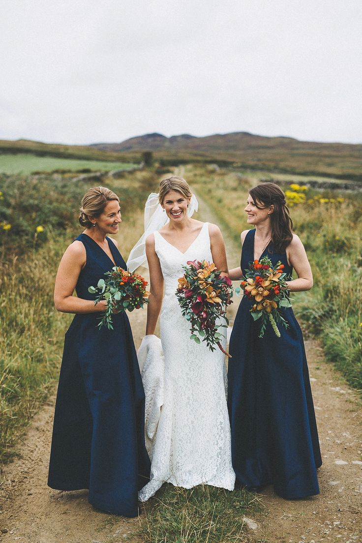 autumn bridesmaid dresses october wedding dresses A First Look and Pronovias Gown for an Autumn Wedding at Crear In Scotland