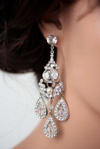 Statement Bridal Earrings Chandelier Wedding Earrings ...
