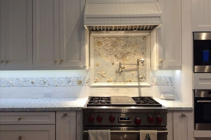 Range Cd Mural A Large Kitchen Backsplash Mural Created With Glass, Stone