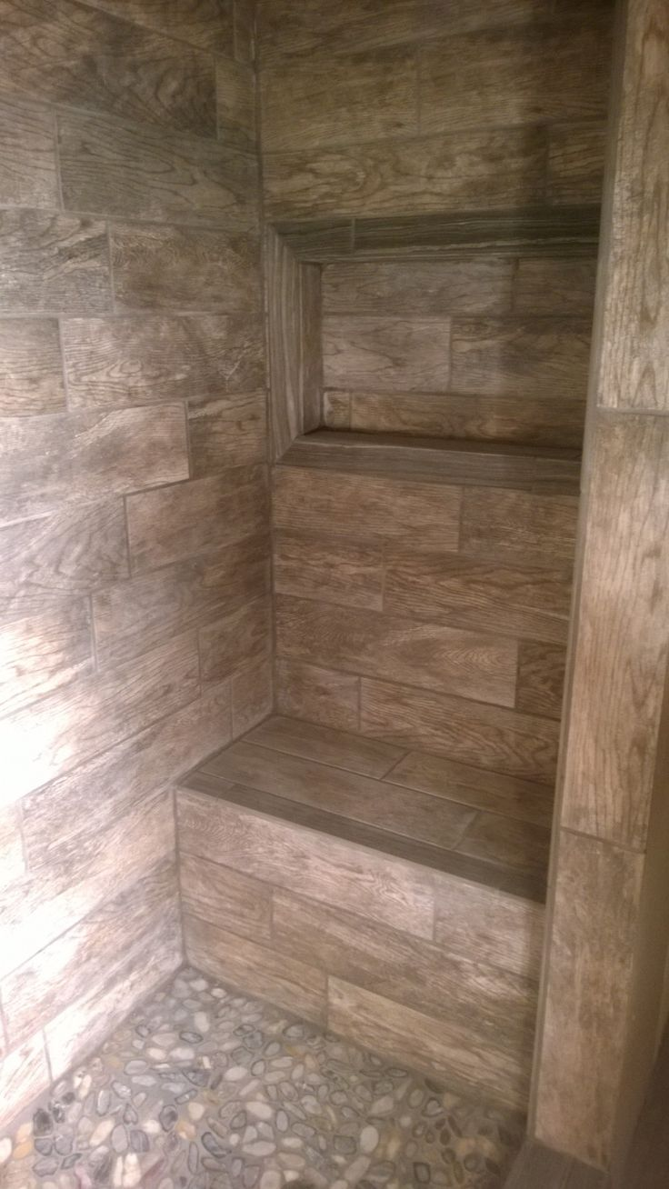 Walk In Dusche Master Shower With Bench And Window For Soap/shampoo