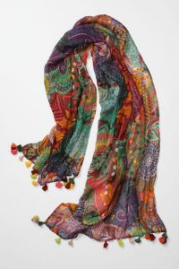 Jardin Des Plantes Side Plate | Colorful scarves, Windows ...