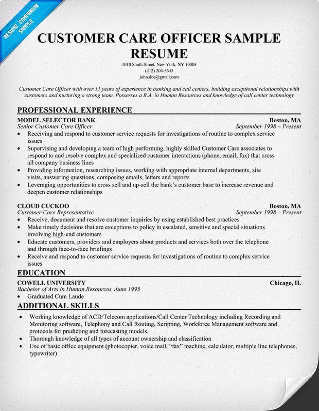 Call Center Customer Service Resume Sample customer service - simple resume examples for jobs