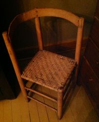 Country corner chair in salmon paint | Around this ole ...