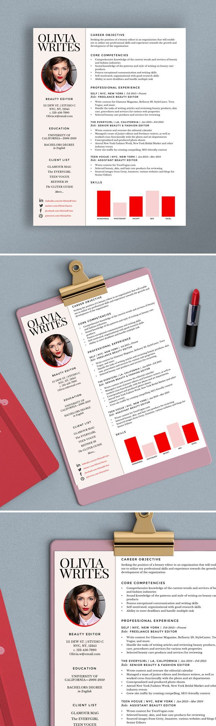 fashion editor resume examples