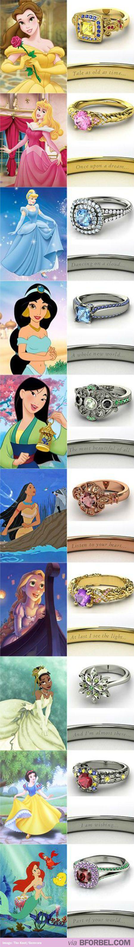 wedding rings disney wedding ring Disney Princess Inspired Wedding Rings Love Cinderella s