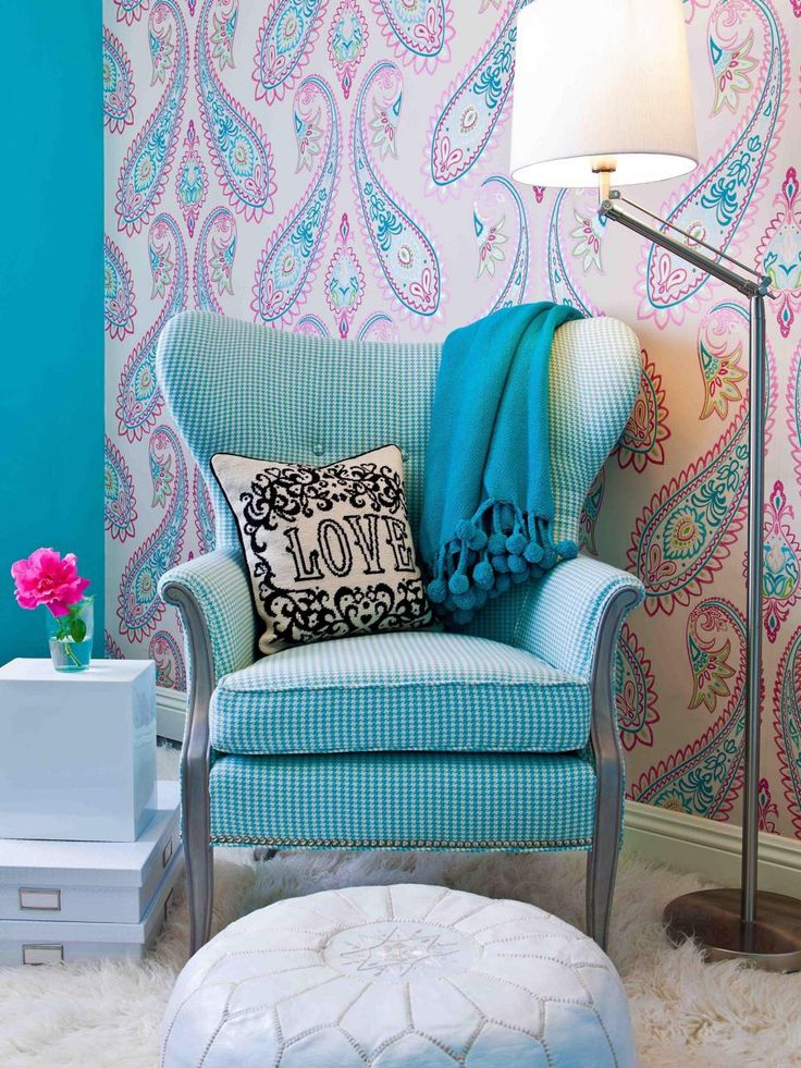 Love Chair Sessel This Tween Girl's Bedroom Sitting Area Features A Vintage