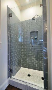 Ice Gray Glass Subway Tile | Shower doors, Shower tiles ...