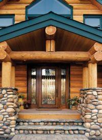 Rustic Log Cabin Exterior Doors | Found on jeld-wen.com ...