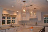 Juliska pendant lights over island | Willow Cir. Kitchen ...