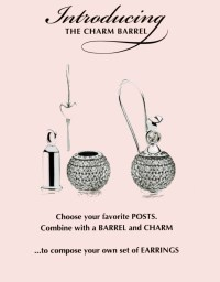 Pandora Charm Barrel, turn charms into earrings!