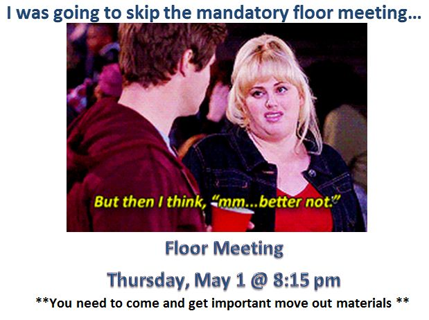 mandatory meeting flyer
