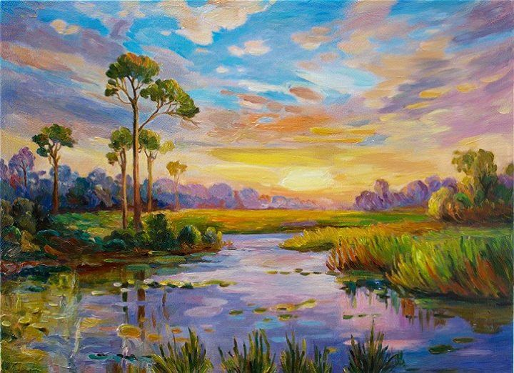 American Paint And Wallpaper Fall River Beautiful Oil Paintings Of Landscapes Painting