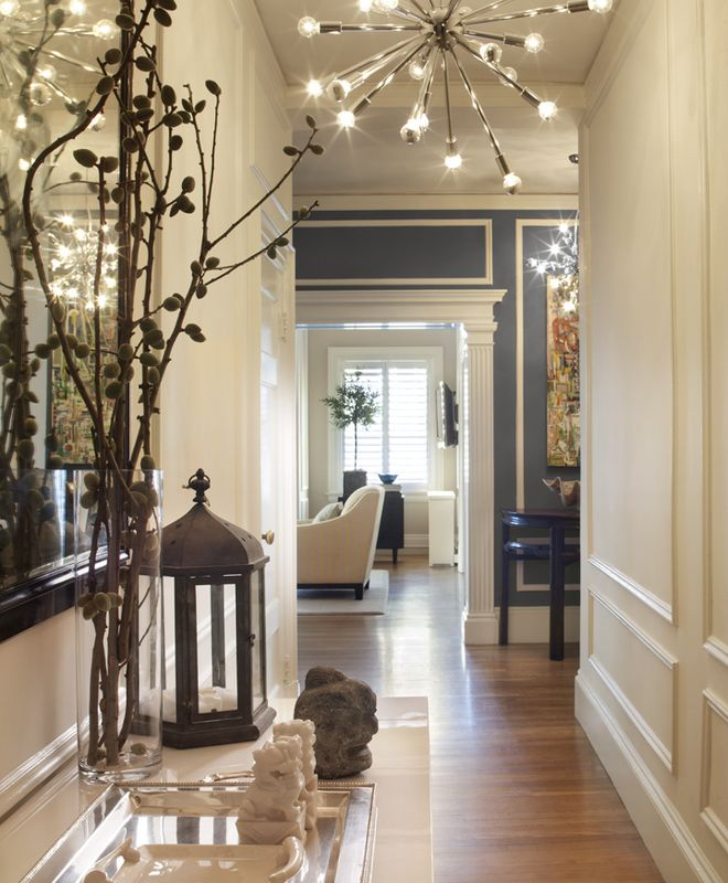 Simulador Muebles Cocina Transitional Foyer, Hallway | Anyon Design | Dering Hall