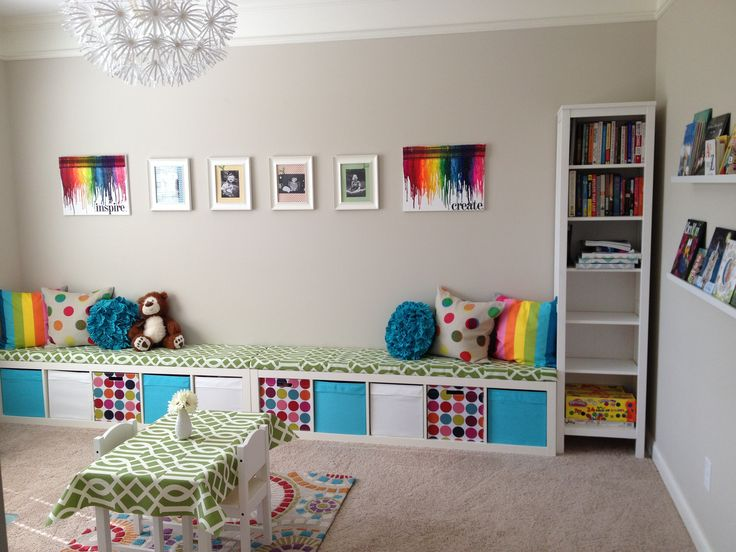 Ikea 8 Cube Storage Ikea Expedit Playroom Storage Bench | Kids | Pinterest