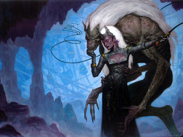 Pin Up Girl Wallpaper Free Draegloth And Drow By Brom 2002 12 Wotc Forgotten Realms