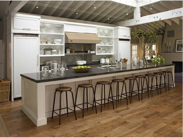 Kitchen Cabinets Long Island Now That Is A Long Kitchen Island.. What I Need For My