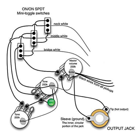 bass guitar output jack wiring