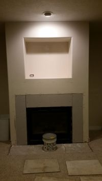 1000+ images about Basement Stone Fireplace Makeover (DIY ...