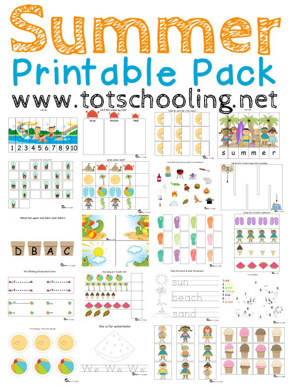 Alphabet Letter F Preschool Activities And Crafts Free Summer Printable Pack For Toddlers Prek Toddlers