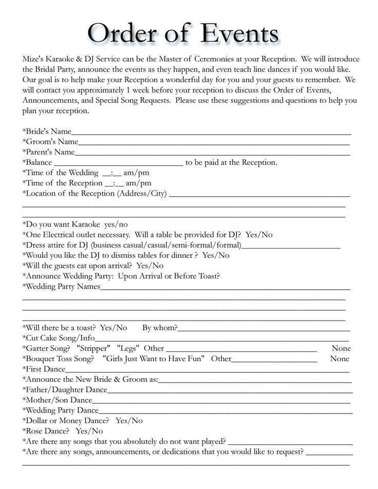 wedding song list template