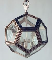 metal octagonal light fixture | Octagon white bronze ...