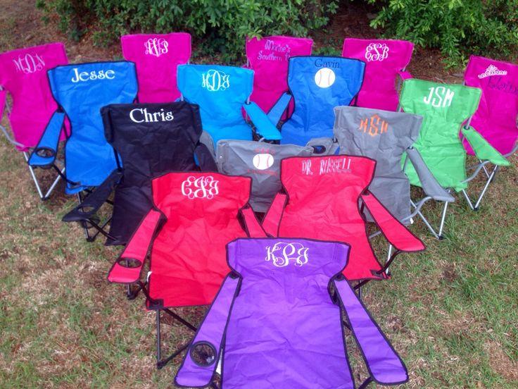 monogrammed stadium chair