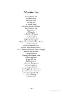i promise you. Nice letter to give to your future spouse ...