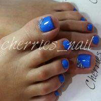 25+ best ideas about Blue Toe Nails on Pinterest ...