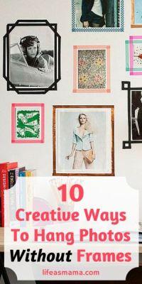 10 Creative Ways To Hang Photos Without Frames | Hang ...