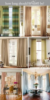 Design tip - how long should curtains be? Floating above ...