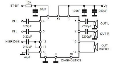 Schaltplang for surround sound system