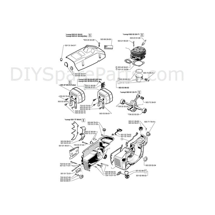 husqvarna chainsaw diagram