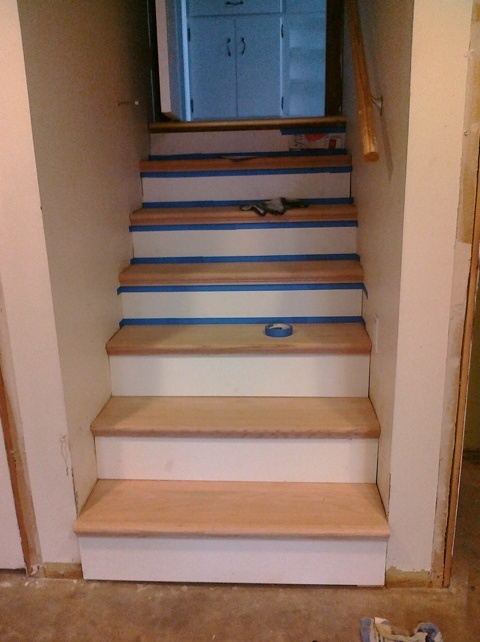 Stairtek From Home Depot Covers Existing Plywood Stairs