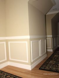 118. Shadow boxes and chair molding on hallway. Westfield ...