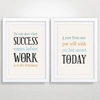 Large Office Decor Typography Posters, Inspirational Quote ...