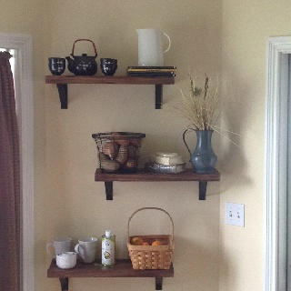 How to fill an empty kitchen wall