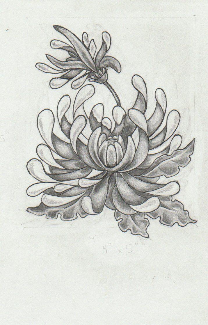 november birthday flower tattoo