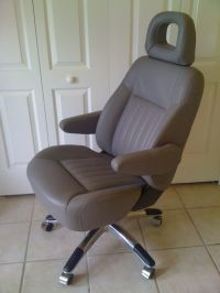 Car seat transformed into executive office chair by the ...