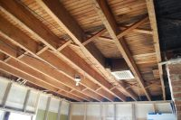 1st floor exposed ceiling joists