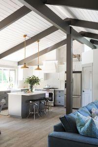 Best 25+ Painted beams ideas on Pinterest | Dark wood ...