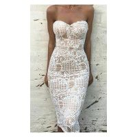 25+ best ideas about White Lace Cocktail Dress on