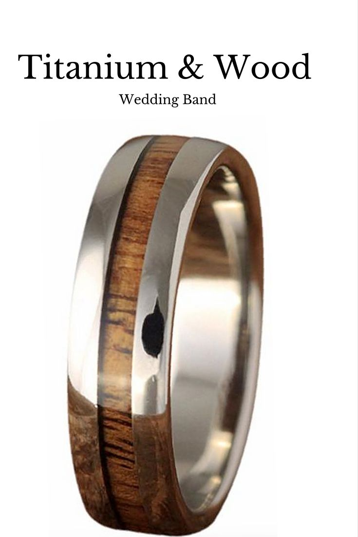 wood wedding bands men wedding rings Skinny Titanium Koa Wood Ring 6mm Wood Wedding BandsUnique Mens